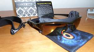 OAKLEY FLAK JACKET POLARIZED ROOTBEER WITH GOLD XLJ CUSTOM SUNGLASSES