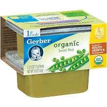 Gerber Organic 2 Pack 1st Foods Baby Food 2.5 oz.   Peas   Gerber