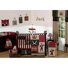 JoJo Designs Pirate Treasure Cove Collection 9 Piece Crib Bedding Set