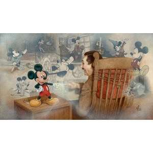 Mickey Mouse Walt Disney Disney Fine Art by Mike Kupka: Home & Kitchen