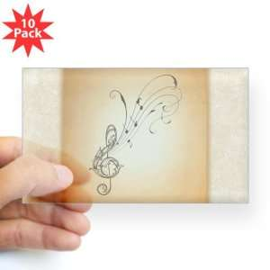 Clear (Rectangle 10Pk) Treble Clef Music Notes