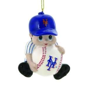 NEW YORK METS LIL FAN PLAYER CHRISTMAS ORNAMENTS (4)