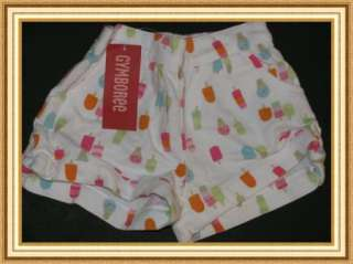NWT GYMBOREE Ice cream trendy shorts GIRLS size 2T toddler