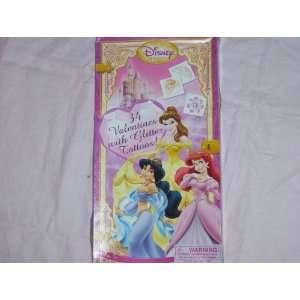 Exchange Disney Princess 34 Valentine Cards with Glitter Tattoos Toys