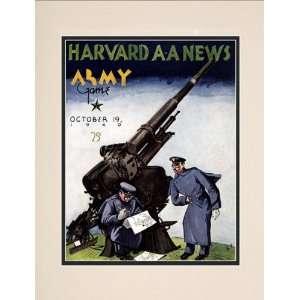 1940 Harvard Crimson vs. Army Black Knights 10.5x14 Matted