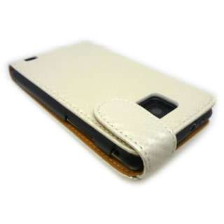 Fibre Flip Leather Case Cover for Samsung Galaxy S 2 II S2 +SP