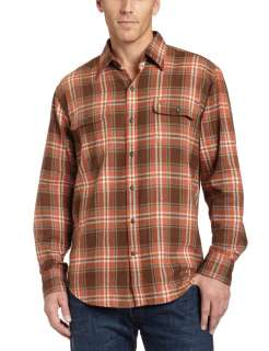 Timberland Orange Plaid Chamois Mens Button Shirt   XXL