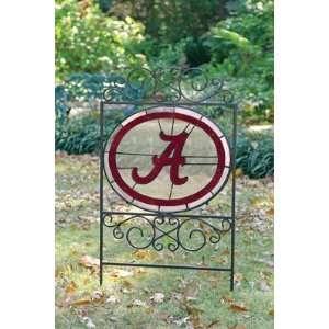 ALABAMA CRIMSON TIDE Team Logo STAINED GLASS YARD SIGN (20 x