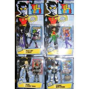 Teen Titans Action Figures Wave 4 Complete Set  Toys & Games