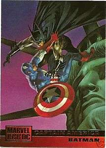 CAPTAIN AMERICA/BATMAN 91 1995 DC Vs Marvel card Dorman