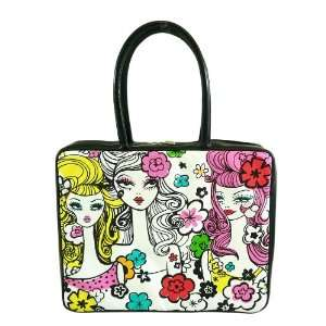 Carrying Case Retro Groovy Fashion Girl and Leopard Design Laptop Bag