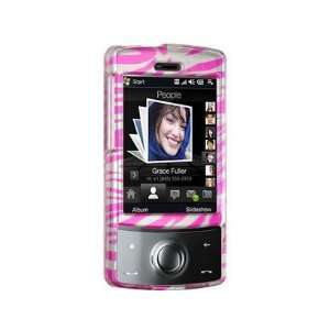 Protective Phone Cover Case Pink Zebra For Sprint HTC Touch Diamond