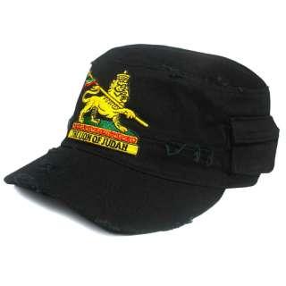 Lion Of Judah Rasta Army Reggae Cap Hat Military LION