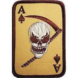 ACE OF SPADES DEATH CARD VIETNAM MILITARY DESERT PATCH
