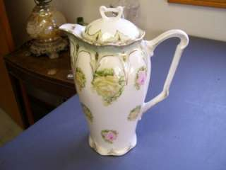 Vintage Three Crown China Rare Rose Pattern Tea Pot