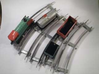 VINTAGE IGRA LOCOMOTIVE TRAIN SET RAILWAY WIND UP TIN TOY