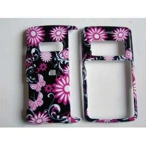New Black and Pink Butterfly Design Lg Env2 Envy 2 Vx9100