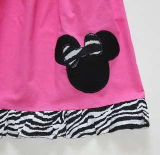 Custom Resell Pink Mnnie Zebra Print Tank Dress 4 5