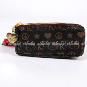 Hello Kitty Faux Leather Coin Purse Wallet Black IEAD