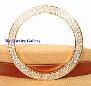 30CT DIAMOND 18K YELLOW GOLD BEZEL FR ROLEX MEN WATCH