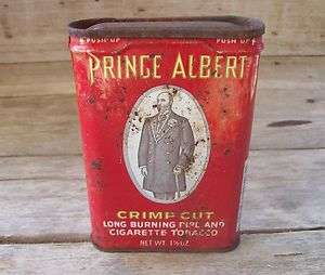 Old Prince Albert Pipe Tobacco Tin Can Full Barcode