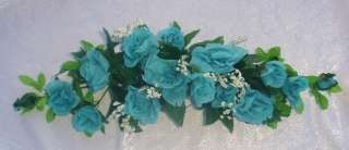 TURQUOISE BLUE AQUA POOL Silk Flowers SWAG Wedding Arch