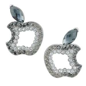 Apple March Birthstone Leaf Earrings Re Stud Pugster