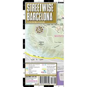Barcelona Map   Laminated City Center Street Map of Barcelona, Spain