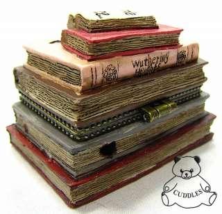Romeos Books Of Love Treasure Box Resin Figurine Boyds Bear Valentines