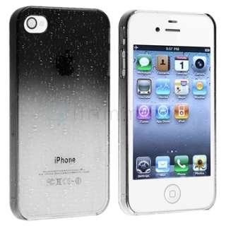 Clear Smoke Water Dorps Ultra Thin Hard Crystal Case Cover for iPhone