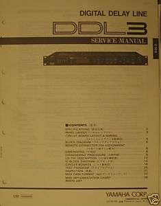 Yamaha Original Service Manual DDL3 Digital Delay Line