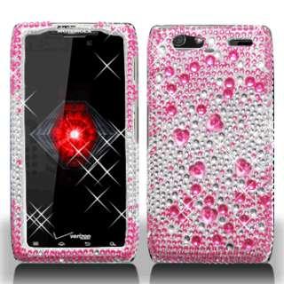 For Motorola DROID RAZR MAXX Crystal Diamond BLING Case Phone Cover