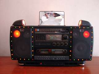VINTAGE MXC CROWN CS 2525 DISCO GHETTOBLASTER BOOMBOX NICE