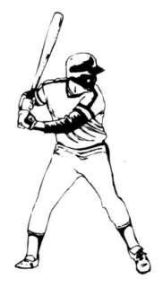 BATTER UM Baseball player sports rubber stamp, #14