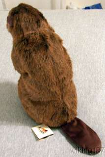 KOSEN MADE in GERMANY NEW Large BEAVER plush toy