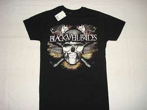 BLACK VEIL BRIDES BVB METAL ROCK SKULL NEW T SHIRT XL