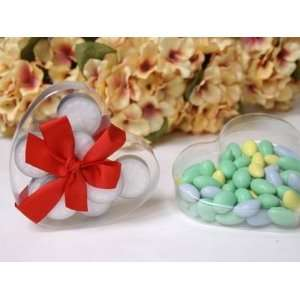 100 Clear PVC Wedding Party HEART Shaped Favor Boxes