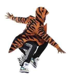 ADIDAS JEREMY SCOTT TIGER ANIMAL TUXEDO TAIL COAT JACKET HOODY XS RARE