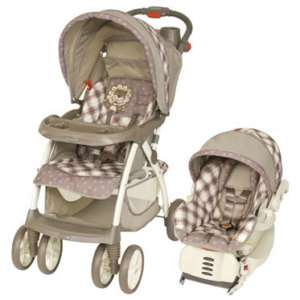 New Baby Trend Little Lion Travel System Stroller + CarSeat