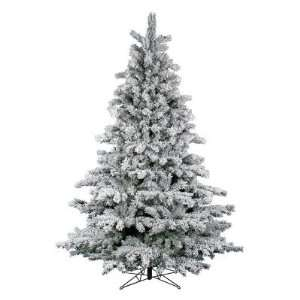 Vickerman Flocked Aspen Unlit Christmas Tree