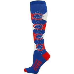 Chicago Cubs Ladies Royal Blue Red Argyle Tall Socks