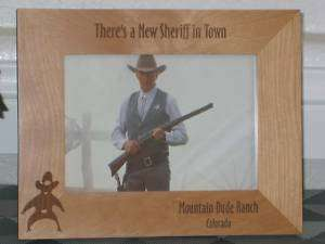 Sheriff Picture Frame   Personalized Engraved Gift