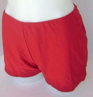 New NIKE Womens Dri Fit Statement Tennis Shorts Red M