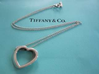 Tiffany & Co. Sterling Silver Vintage Slanted Heart Necklace