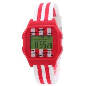 TIMEX 80 Retro Vintage Style Indiglo Red & White Digital Watch BNIB