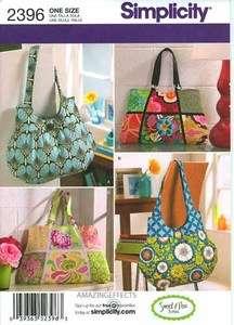 Bags Purse Tote Handbag sewing sweet pea totes 039363523963