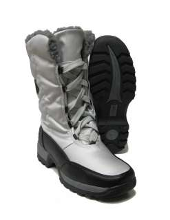 Womens Totes Rhonda Waterproof Warm Winter Boots Silver