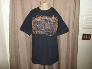 HARLEY DAVIDSON T Shirt FREDERICK CO Vintage BLACK Motorcycle BIKER