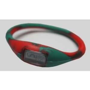 TRU Silicone Sports Watch (Green/Red   Seasonal) Case