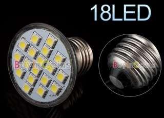 E27 3W 18 LED SMD 5050 6500K Cool White Light Bulb 110V